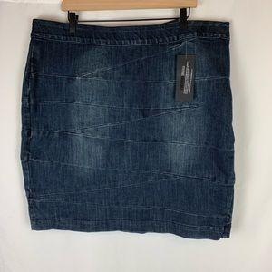 Lane Bryant Women's Denim Skirt Dark Wash Size 20